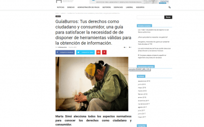 Infodespachos, medio especializado en derecho, recomienda el GuíaBurros: Tus derechos como ciudadano y consumidor, de Marta Simó